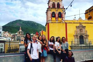 Die 8 AustauschschülerInnen in Guanajuato
